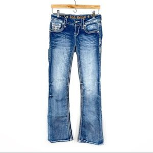 Rock Revival Yui Boot Cut Light Wash Jeans Size 25